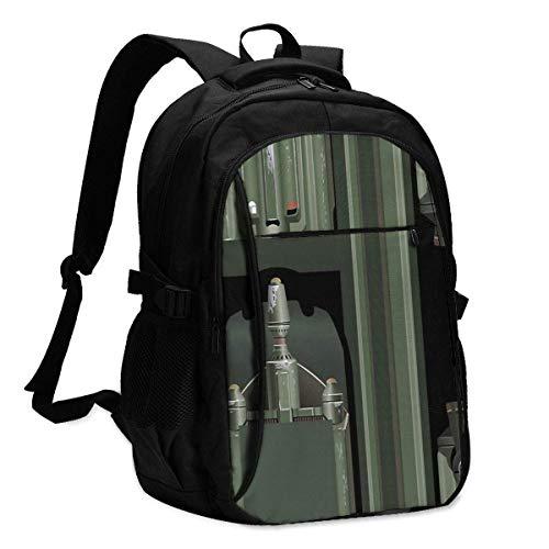 Hdadwy SciFi Jetpack 3D Printing with USB Backpack,School Bag, Travel Bag, Mountaineering Bag