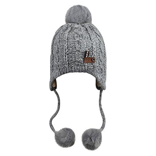 FakeFace Babymütze Kinder Wintermütze Kindermütze Strickmütze Baby Beanie Baskenmütze warm Winter Haube Kapuze Mützen Hüte für Mädchen Jungen