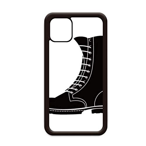 Heren Zwarte Hoge Laarzen Silhouette Patroon voor Apple iPhone 11 Pro Max Cover Apple Mobiele Telefoon Case Shell, for iPhone11