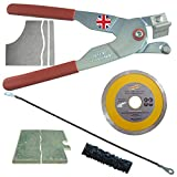 Left Handed The Amazing Tile And Glass Cutter Kit includes a Tungsten Rodsaw Hacksaw Blade and a Diamond Grinder Blade for cutting Porcelain and Granite corners and outlets