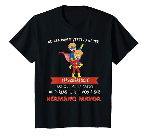 Niños SUPER HERMANO MAYOR 2022 CON SUPERHÉROE ANUNCIA EMBARAZO Camiseta