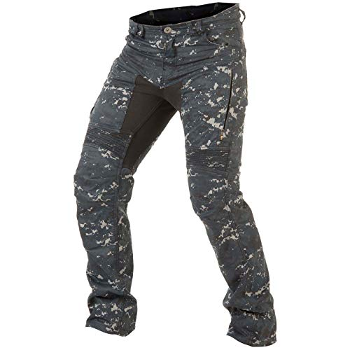 Trilobite Jeans PARADO HERREN Motorrad Hose LANG Digi Camo blau camouflage (42/34)