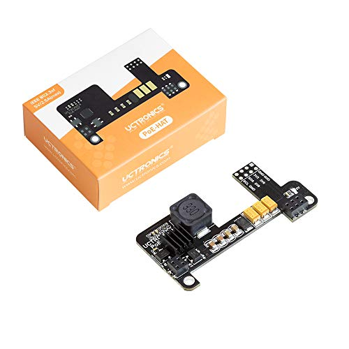 UCTRONICS PoE HAT for Raspberry Pi 4, Mini Power Over Ethernet Expansion Board for Raspberry Pi 4 B 3 B+