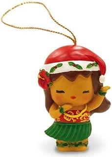 Island Yumi Hawaiian Hula Girl Resin Christmas Ornament