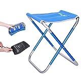 折りたたみ椅子 アウトドアチェア コンパクト おりたたみいす 持ち運びやすい 折り畳み椅子 イス 耐荷重100kg 収納簡単 収納袋付き キャンプ お釣り 登山 お花見 花火大会用 驚くほど軽い … (青)