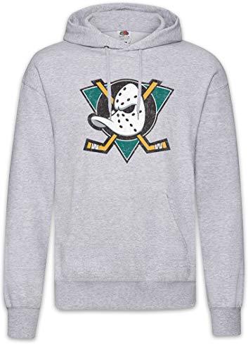 Urban Backwoods Ducks Hockey Hoodie Sudadera con Capucha Sweatshirt Gris Talla M