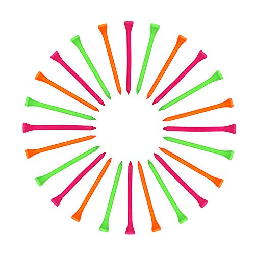 MR.FOAM Golf Tees,30pcs Golf Tees 3 1/4 Inch Colorful Golf Tees Wood Professional Natural Golf Tees Bulk Multiple Colors Tall Golf Tees Bulk Reduce Side Spin and Friction