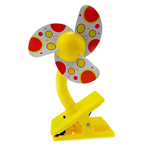 bodhi2000portátil Clip de Mini ventilador para cochecito de bebé cochecito cuna, plástico, Amarillo, talla única