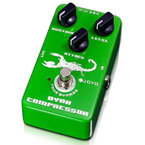 JOYO JF-10 Dynamic Compressor Pedal Effect Re-create Classic Ross Compressor Pedal for Electric Guitar Bass Sustainer Pedal