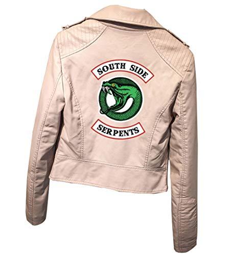 IFITBELT Mujer Riverdale Southside Serpientes Cuero Jacke Chaquetas PU Leather Moto Jacket Cosplay Abrigo Deporte Tops (EU M(Asia L),braun1)
