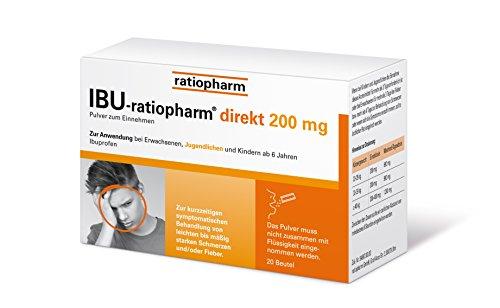 Ibu-ratiopharm direkt 200mg - NEU: Pulver zur direkten Einnahme OHNE Wasser