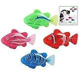 iwobi 4 Stück Robo Fisch Clownfisch, Lebensechte Bewegungen, Elektronisches Wasser Spielzeug Kätzchen Spielzeug