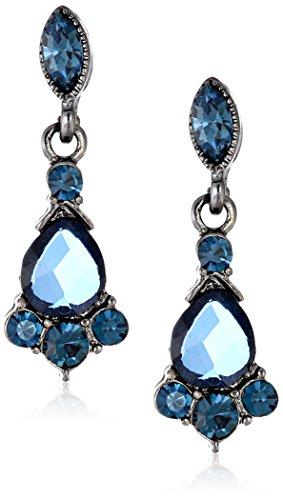 1928 Jewelry Vintage Crystal Drop Earrings