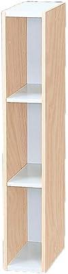 Marque Amazon- Movian Meuble de Rangement Petit Espace modulable Gain de Place UB-9015-Chêne Clair et Blanc, 15 x 29 x 90 cm