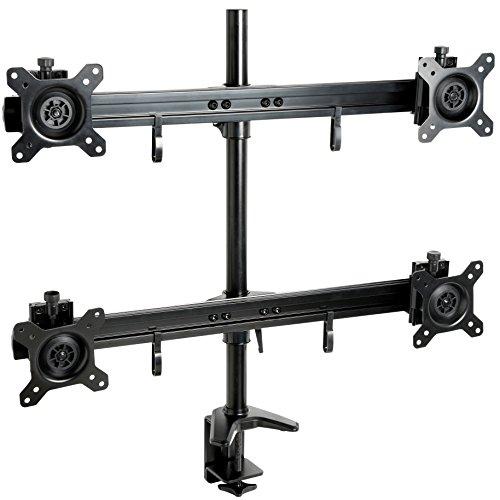 Mool Professional bureauhouder voor 4 led-/LCD-beeldschermen (15-24 inch), belastbaarheid tot 32 kg, zwart