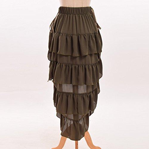 GRACEART Women's Victorian Steampunk Skirt Pirate Costume