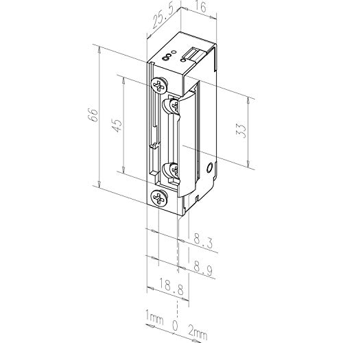 EFF-EFF 11805-B71 Türöffner 11805 FaFix 22-42V AC/DC ohne Schließblech, Silber