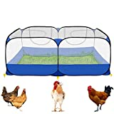 GABraden Portable Small Animals Playpen Chicken Run coop,Chicken Pen for Small Animals Outdoor Pet Enclosure (Blue)
