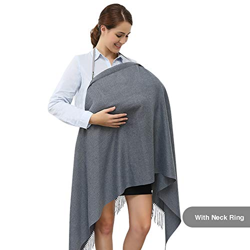 Buy Discount Klaury Nursing Breastfeeding Cover Scarf, Breathable Stretchy Soft Fabric, Multi-Use In...