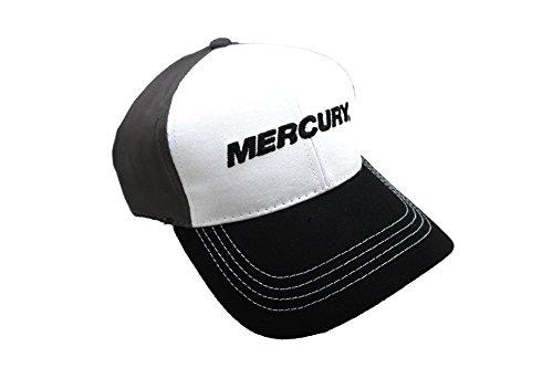 Mercury Marine Lure Fishing Trucker Black/White/Gray Hat Cap