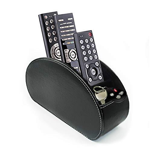 Fosinz - Organizador para mando a distancia con 5 compartimentos espaciosos (negro)
