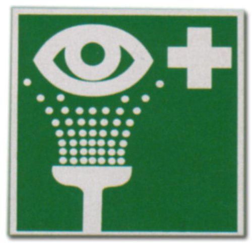 Rettungszeichen Grün - Augenspüleinrichtung - Auge Spülen Schild Warnschild Warnzeichen Arbeitssicherheit Türschild Tür Kunststoff Kunststoffschild Geschenk Geburtstag