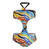 Tuc Tuc Trikini NIÑA Good Vibes Traje de baño de una Pieza, Naranja (Naranja 10), 6 años (Tamaño del Fabricante:6A) para Niñas