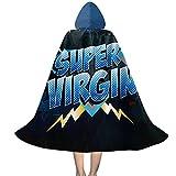 YRUI Super Virgin Virgi-Nity Rocks - Capa con capucha para niños, disfraz de Halloween, color negro