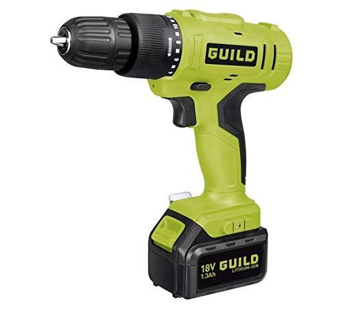 Guild 1.3AH Li-Ion Cordless Hammer Drill - 18V.