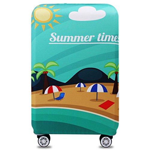 YianBestja Elastisch Kofferhülle Kofferschutzhülle Gepäck Cover Reisekoffer Hülle Koffer Schutzhülle Luggage Cover mit Reißverschluss (Summer Time, XL (29-32 Zoll))