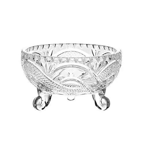 QLee Bowl Elegante tazón de Cristal para el hogar, Oficina, Boda, Decorativo, Fruta, Aperitivo, Postre, Centro de Mesa