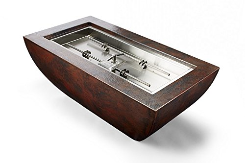 Read About Hearth Products Controls Phoenix Copper Gas Fire Pit Bowl with H-Burner (PHOEN47X25-HBURN...