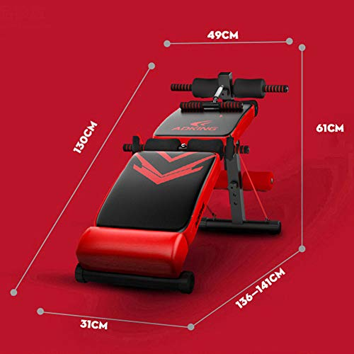 Product Image 6: Utility Core Abdominal Trainers With Headrest,Multifunctional Portable Weight Bench For Full Body,Foldable Adjustable Ab Bench A
