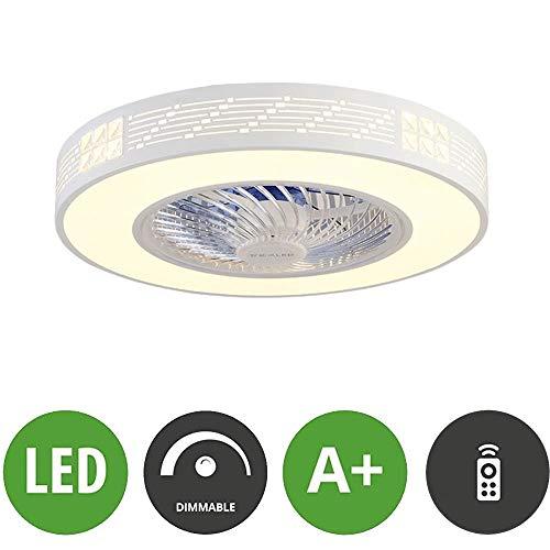 LED verstelbare plafondlamp met ventilator, plafondventilator met afstandsbediening, 3 snelheidsniveaus, zeer stil, voor slaapkamer, creatieve woonkamer, 3 kleuren, decoratieve lampen