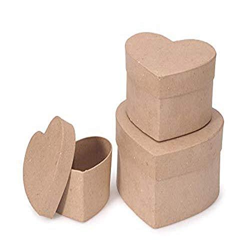 of darice box sets Darice Paper Mache Box Heart 4