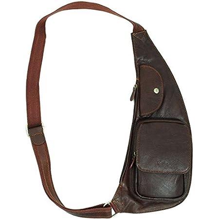 Katana - Bolso de piel para hombre, color marrón