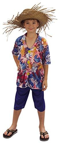 Rire Et Confetti - Fichaw004 - Déguisement pour Enfant - Costume Touriste Hawaïen - Garçon - Taille L