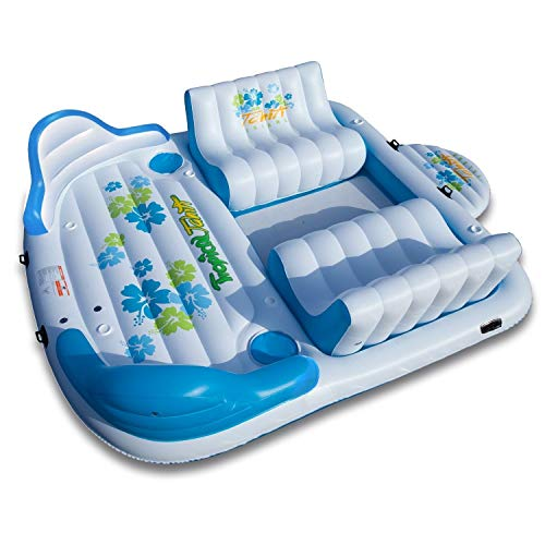 Lowest Prices! Tropical Tahiti Giant Floating Island Raft 8-Person Capacity
