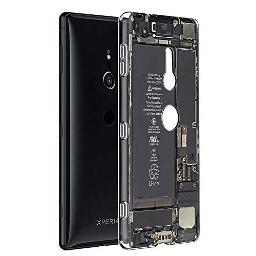 Pnakqil Hülle kompatibel mit Sony Xperia XZ3 Phone, Silikon Schutzhülle TPU Clear Transparent Kratzfest Ultra Dünn Stoßfest Motiv Muster Handyhülle Weiche für Sony Xperia XZ3,Kamera