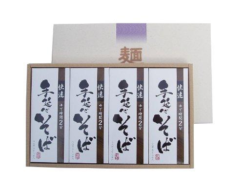 「快速」 手延べ そば つゆ、のり入り 12食セット 奈良 三輪山麓にて製造