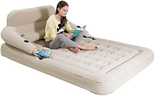 HongLianRiven Cama de Viaje Viajes Cama Inflable Cama extraíble Respaldo colchón de...