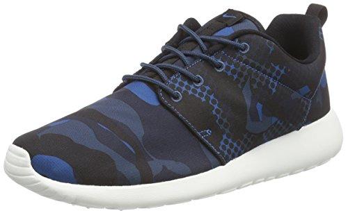 Nike Roshe One Print, Men's Low-Top Sneakers, Varios colores (Azul / Black (Brgd Blue / Blk-Sqdrn Bl-Obsdn)), 7.5 UK