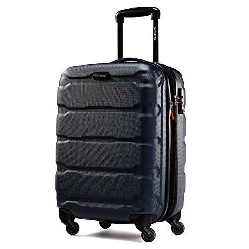 Samsonite Omni PC Hardside Expandable Luggage with Spinner Wheels, Navy, Carry-On 20-Inch