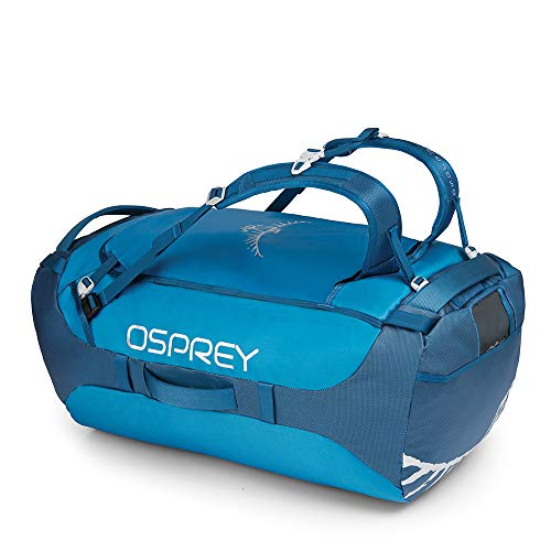 Osprey Transporter 95 Unisex Durable Duffel Travel Pack with Harness - Kingfisher Blue (O/S)
