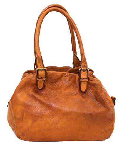BZNA Bag Linn cognac Schultertasche Italy Designer Damen Handtasche Tasche Leder Bag Neu