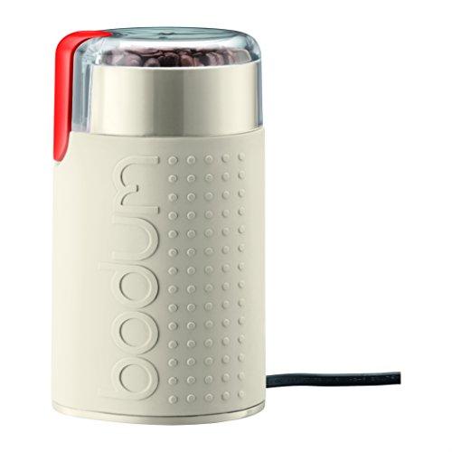 Bodum 11160–913euro-3Bistro elektrische Kaffeemühle mit Lamellen, matt, 150W, weiß