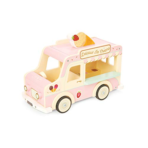 Le Toy Van- Push Along Ice Cream Truck, Multicolore, ME083