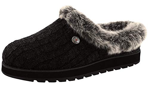 Skechers Damen KEEPSAKES ICE ANGEL Hausschuh, Black, 35.5 EU