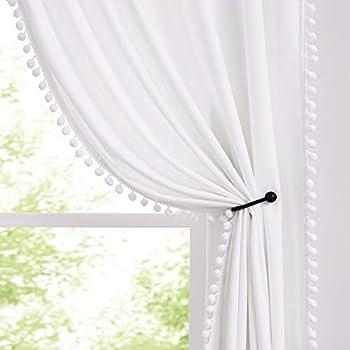 Best white pom pom curtains Reviews