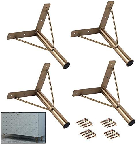 ZXLRH Patas para Muebles, pies de Soporte de Metal y Acero Inoxidable, pies Dorados para gabinetes de baño, pies para gabinetes de TV, Patas para sofá, Patas para Muebles, Hardware, sillas, Patas
